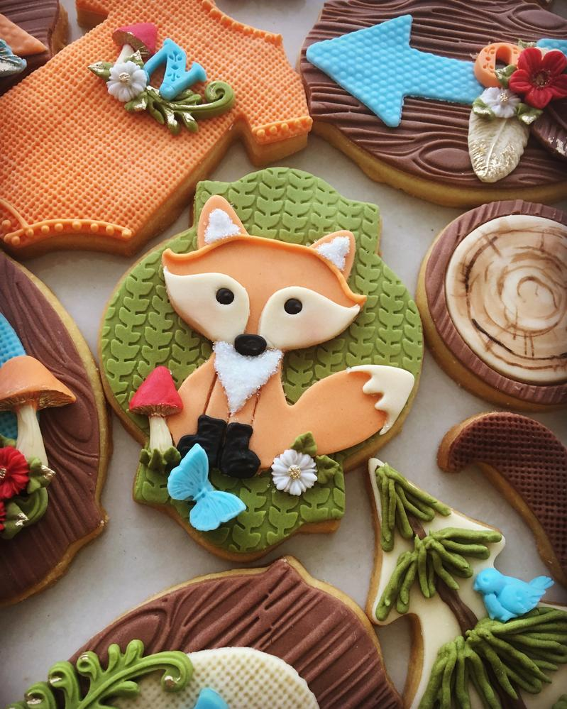 Lorena Rodríguez. Fox cookie. Woodland cookies