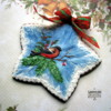 royal icing winter bullfinch cookie
