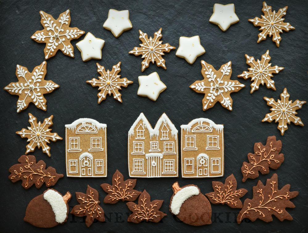 Winter Town Cookie Scene