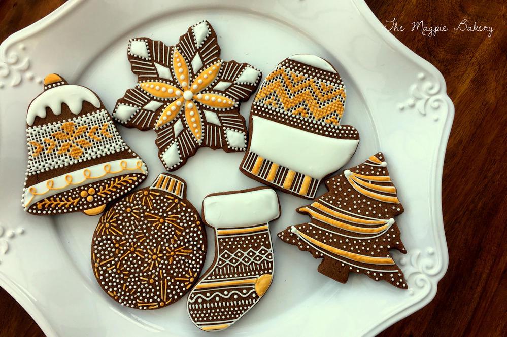 Elegant Christmas Cookies   The Magpie Bakery