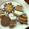 Elegant Christmas Cookies | The Magpie Bakery