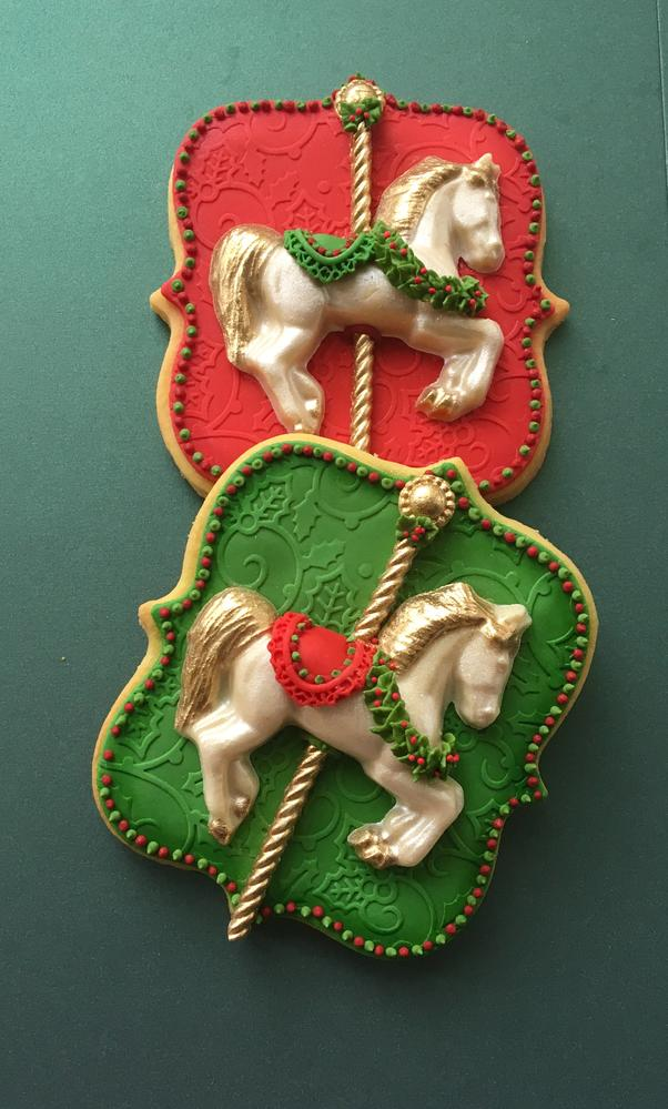 Christmas Carousel Cookies By Lorena Rodriguez Cookie Connection
