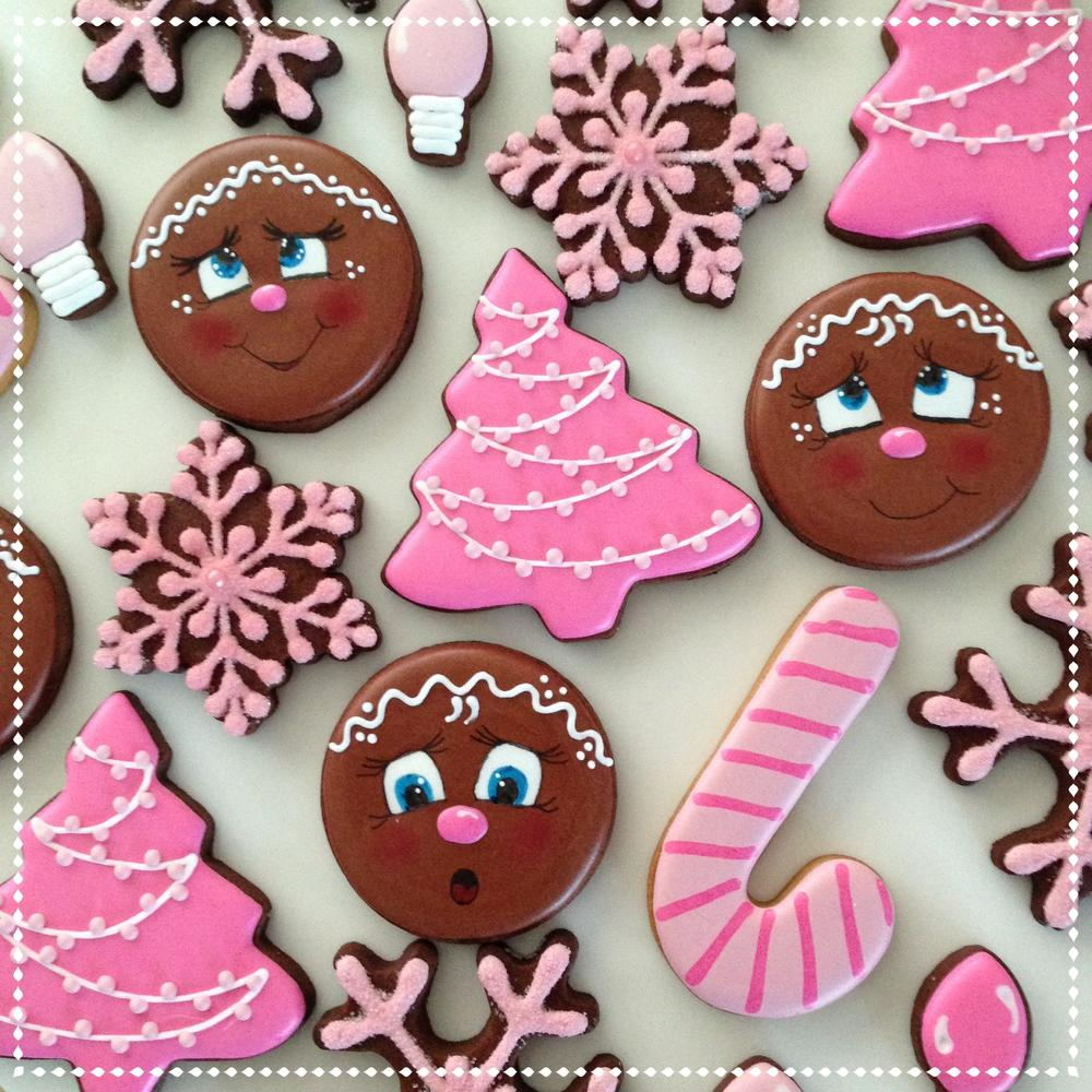 Cute Gingerbread faces