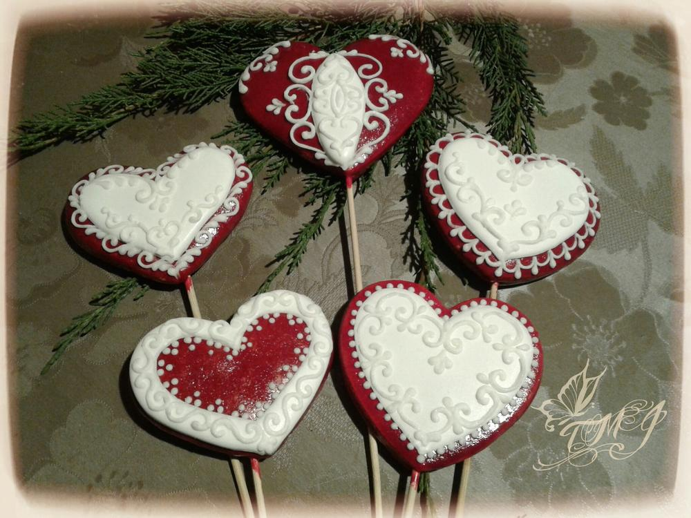 Hearts on stick by TMJcreative
