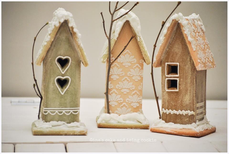 Little houses in winter