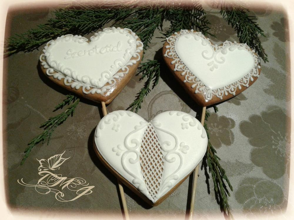 White hearts by TMJcreative