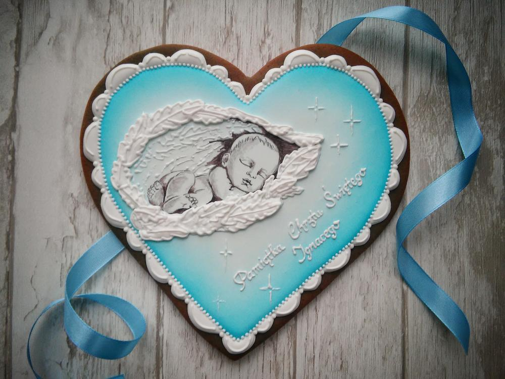 Christening Cookie for Boy
