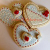 Blue and White Hearts (Cookie Celebration)