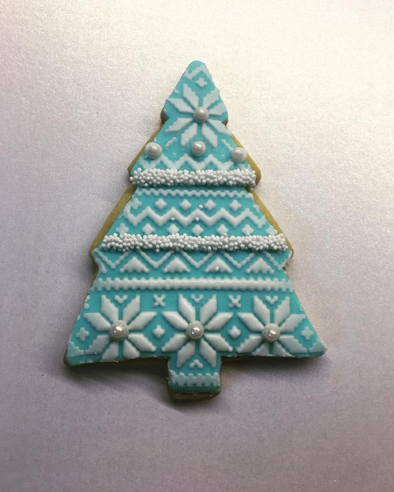 Lorena Rodríguez. Christmas tree cookie.