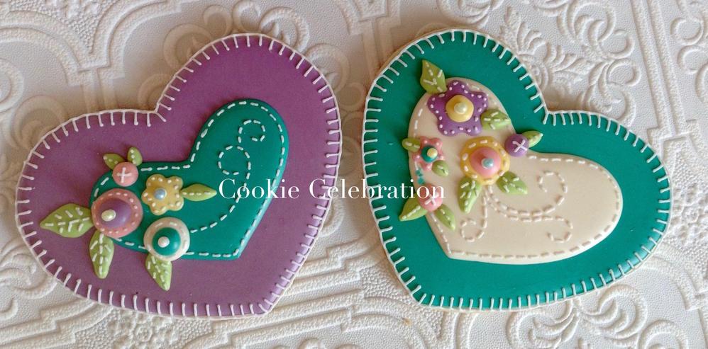 Felt Hearts (Cookie Celebration)