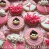 Ballerina cookies in white and pinks