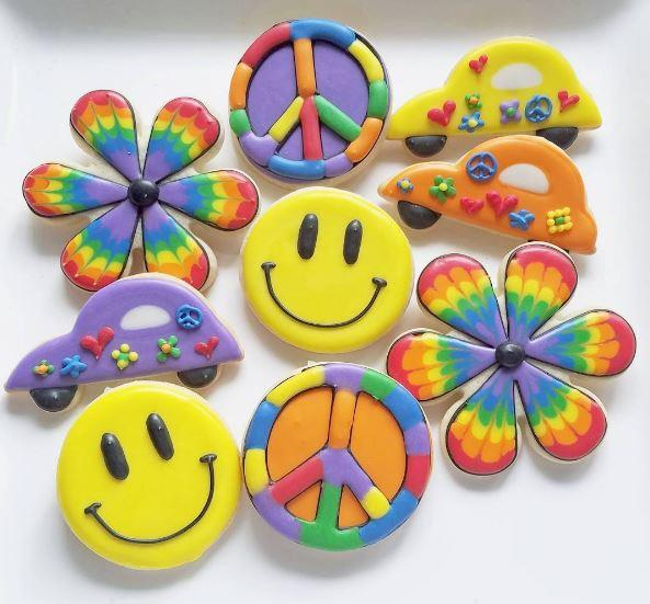 Retro Peace Cookies