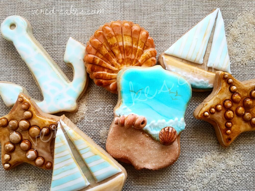 Sea-themed Cookie Set - Close-up