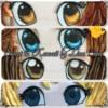 Handpainted eyes