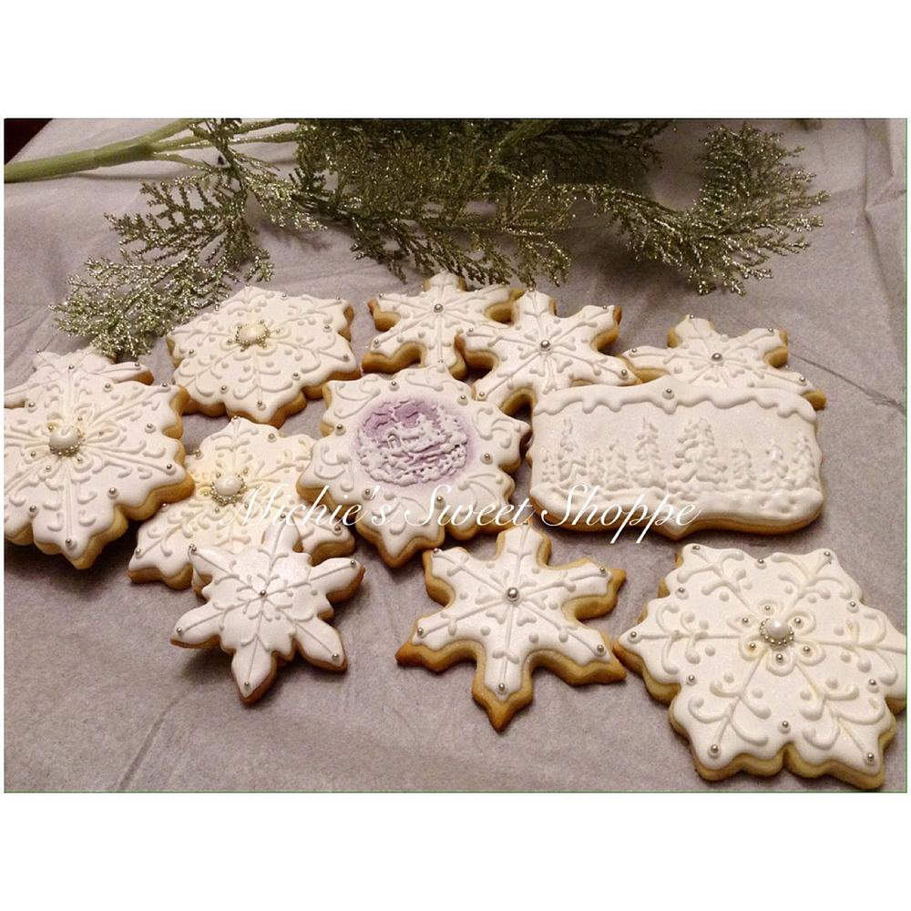 Snow Themed Cookies