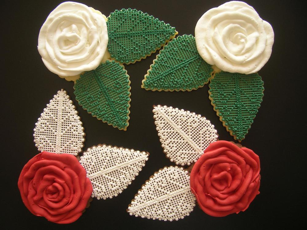 Roses with lace leaves