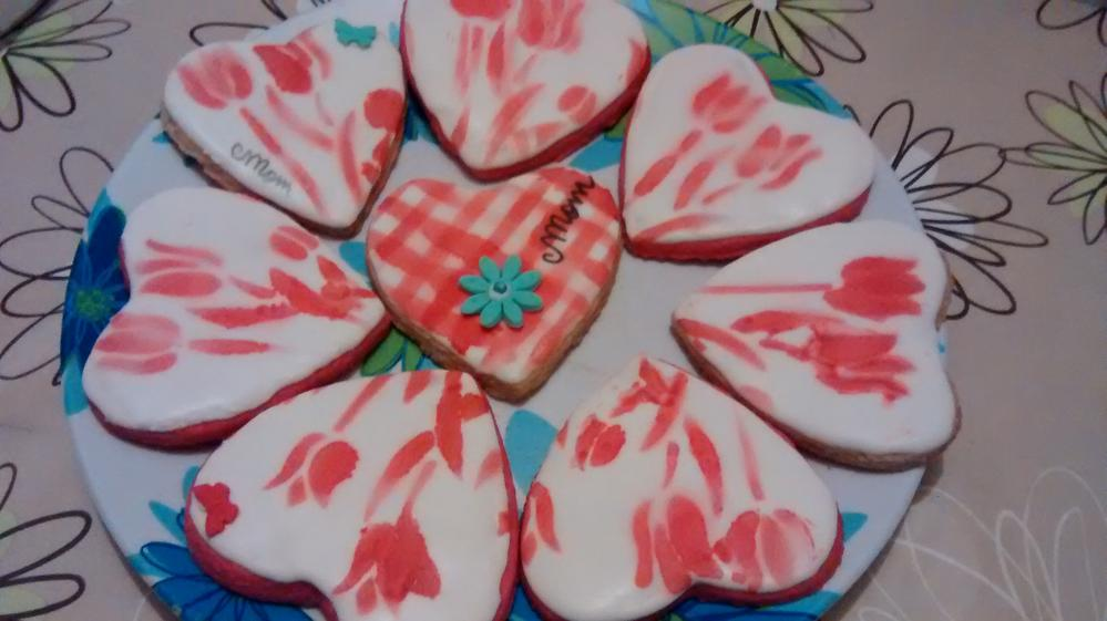 Airbrushed/Stenciled Hearts