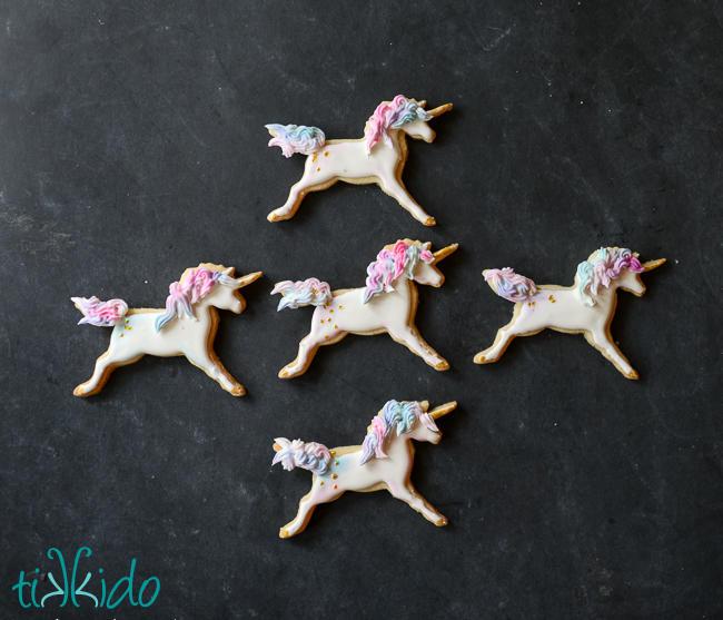 Watercolor Unicorn Sugar Cookies