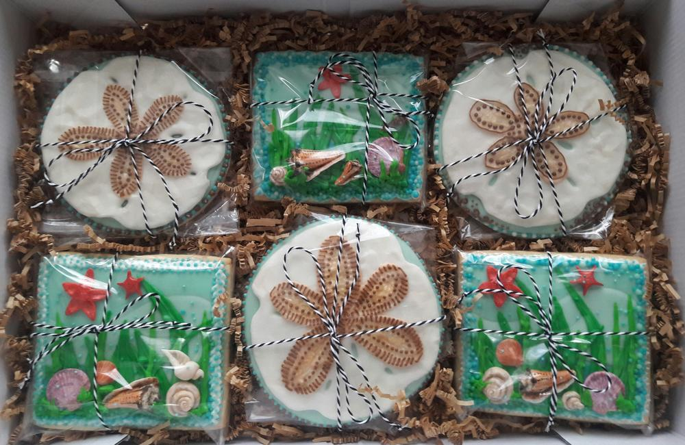 Seashell Birthday Cookies