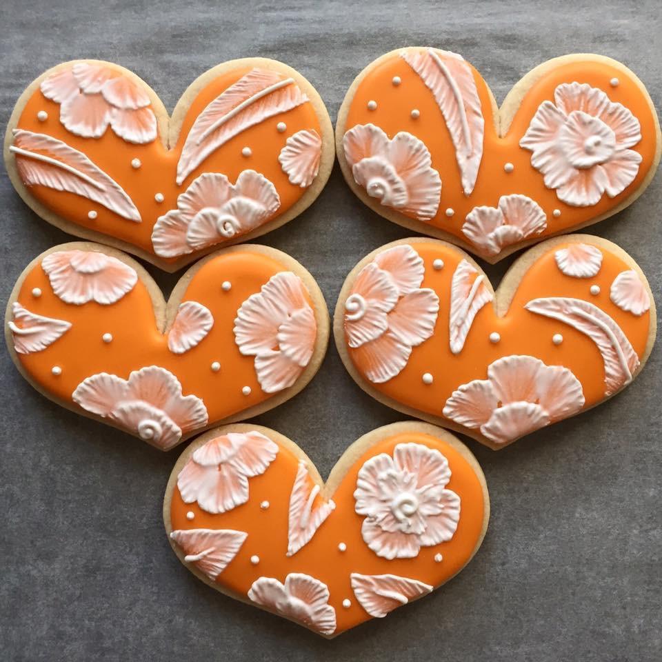 Orange hearts