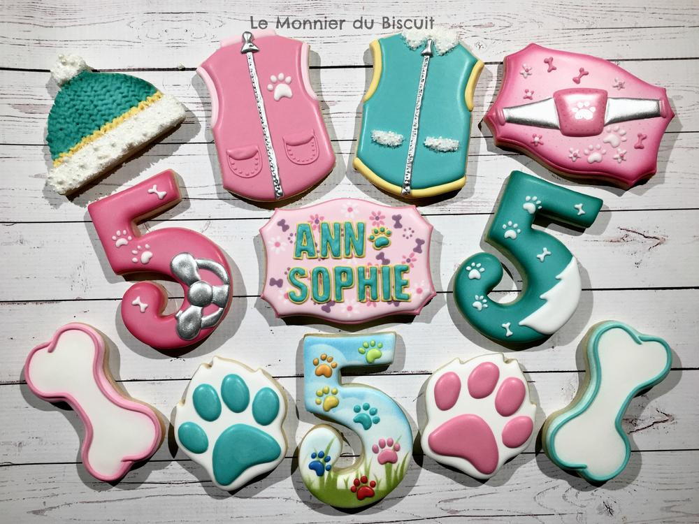 Girly cookies inspired by Paw Patrol - Le Monnier du Biscuit