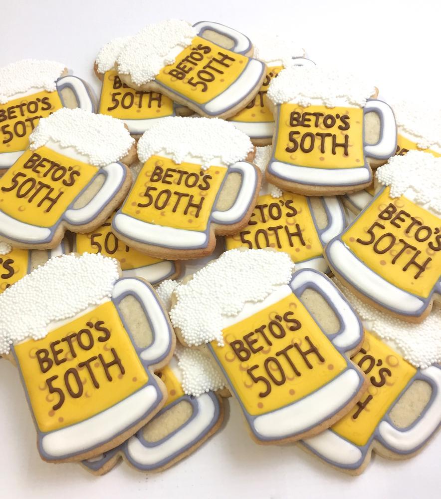 Beer 50th Birthday Cookies
