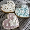 Lacy Heart cookies for Valentine's Day