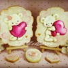 Sugartess - Hand Painted Valentine's Bear Cookie Set