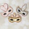 Venetian Mask Cookies for Mardi Gras