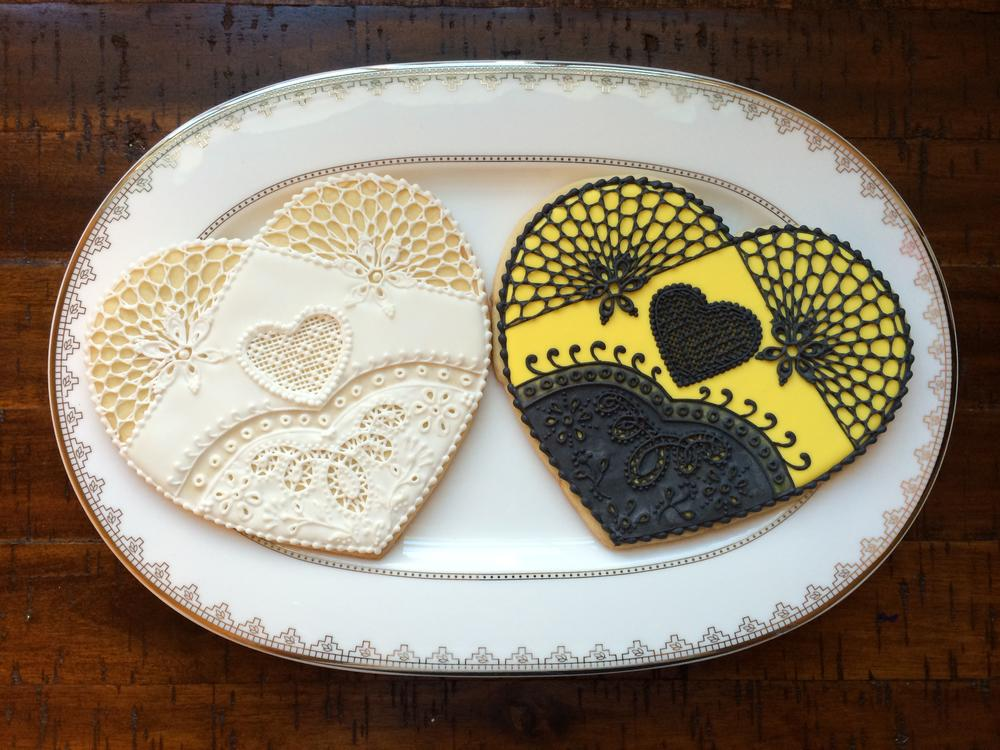 Lace Hearts Two Ways