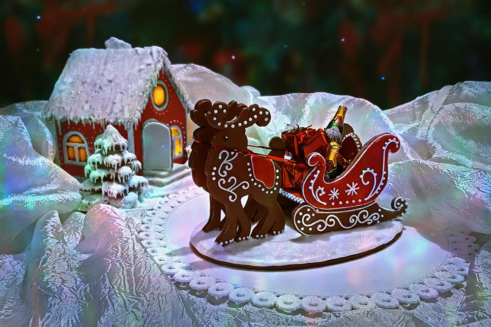 Gingerbread Sleigh  and Winter house
