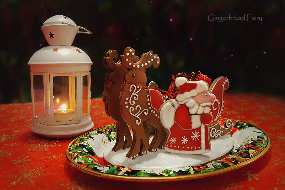 Gingerbread Sleigh and Ded Moroz
