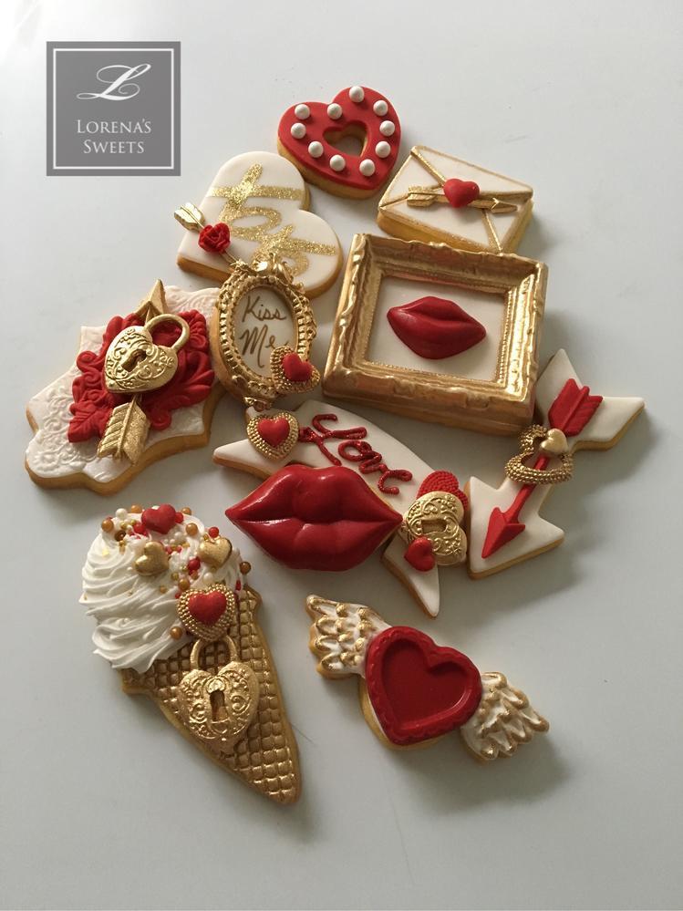 Lorena Rodríguez. Valentine's cookies