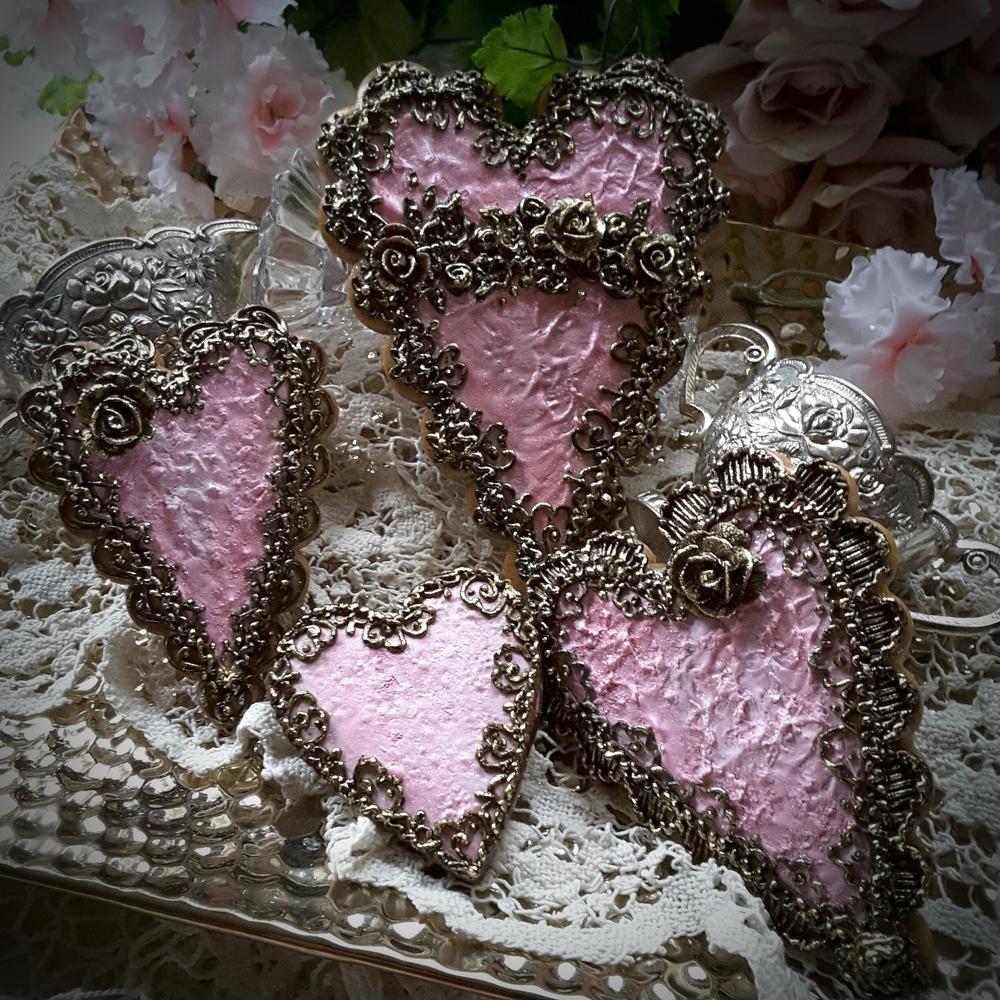 Antique  Keepsake Collection hearts