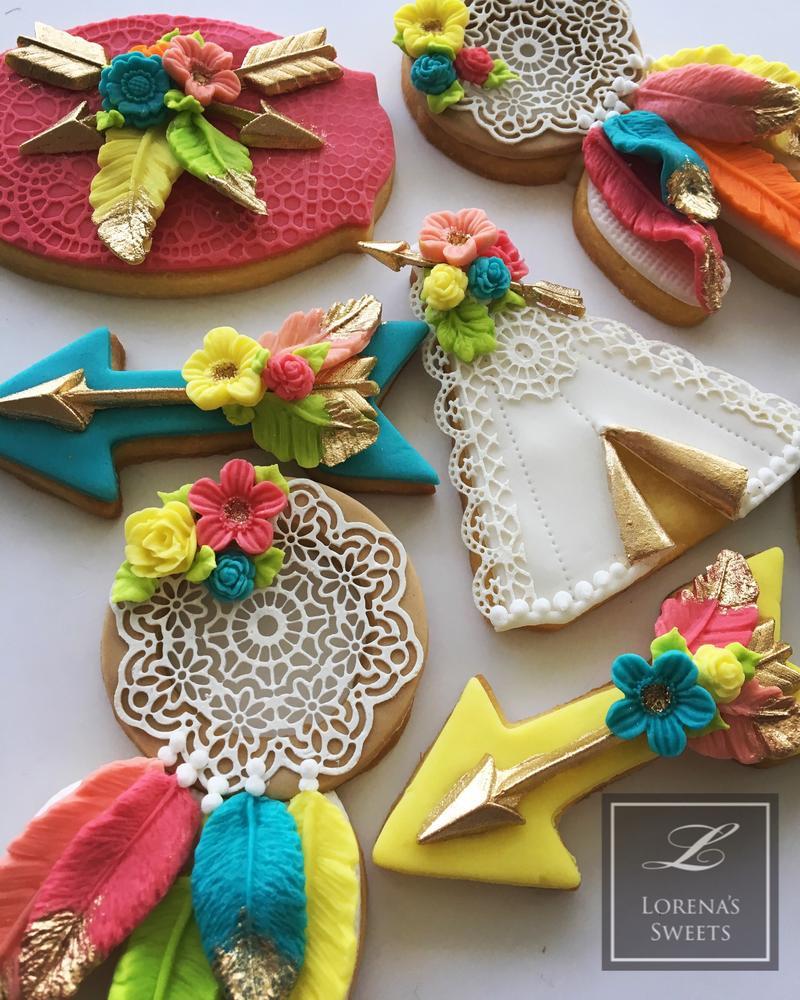 Boho Neon Cookies by Lorena Rodriguez