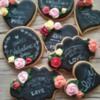 Chalkboard Valentine's cookies