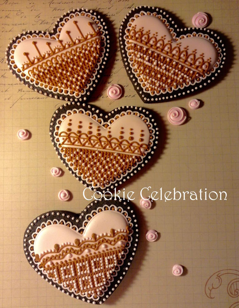 Pink and Brown Hearts (Cookie Celebration)