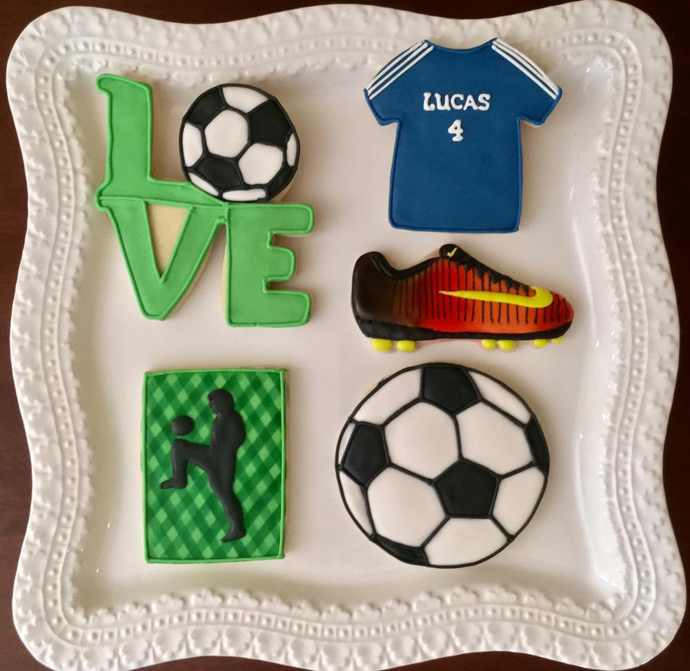 Love Soccer - Birthday Cookies