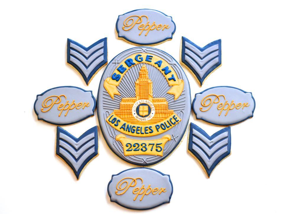 LAPD Retirement Cookies