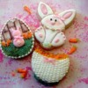 Easter bunny cookies by Tina Sugar Wishes