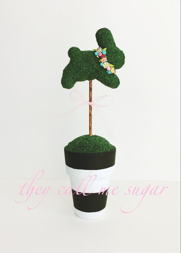 Easter Bunny Topiary Cookie