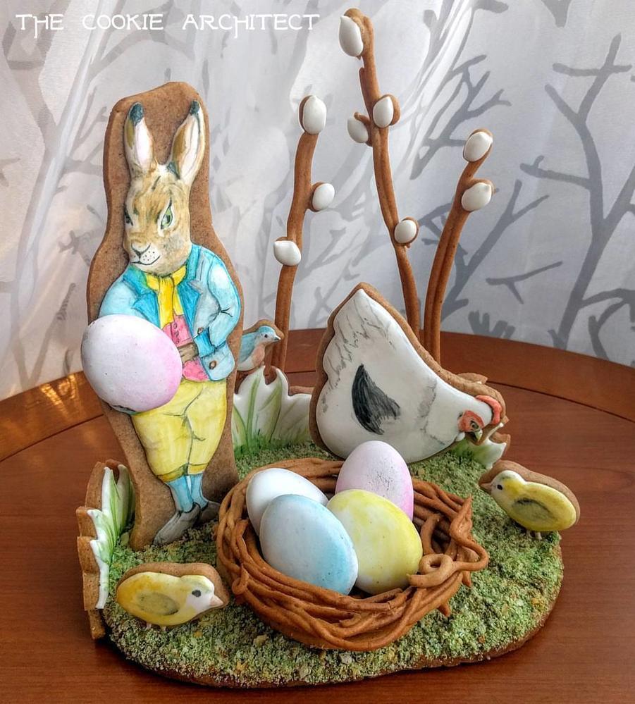 Easter Gingerbread Centerpiece