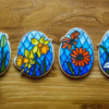 Stained Glass Easter Flowers
