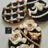 Lorena Rodríguez. Easter egg cookies. Faberge inspired