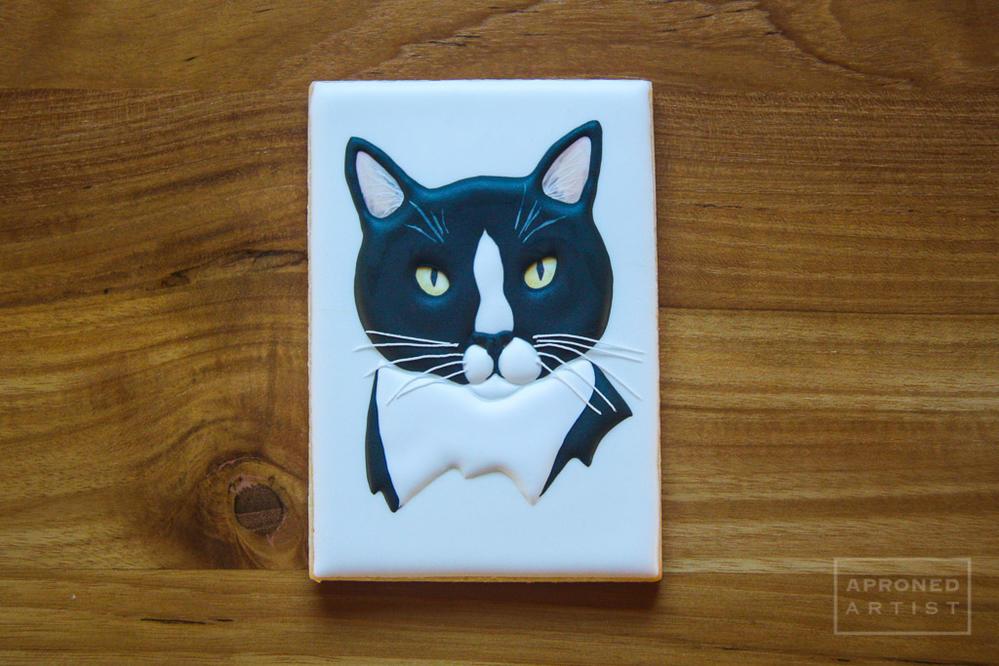 Marlee, the tuxedo cat