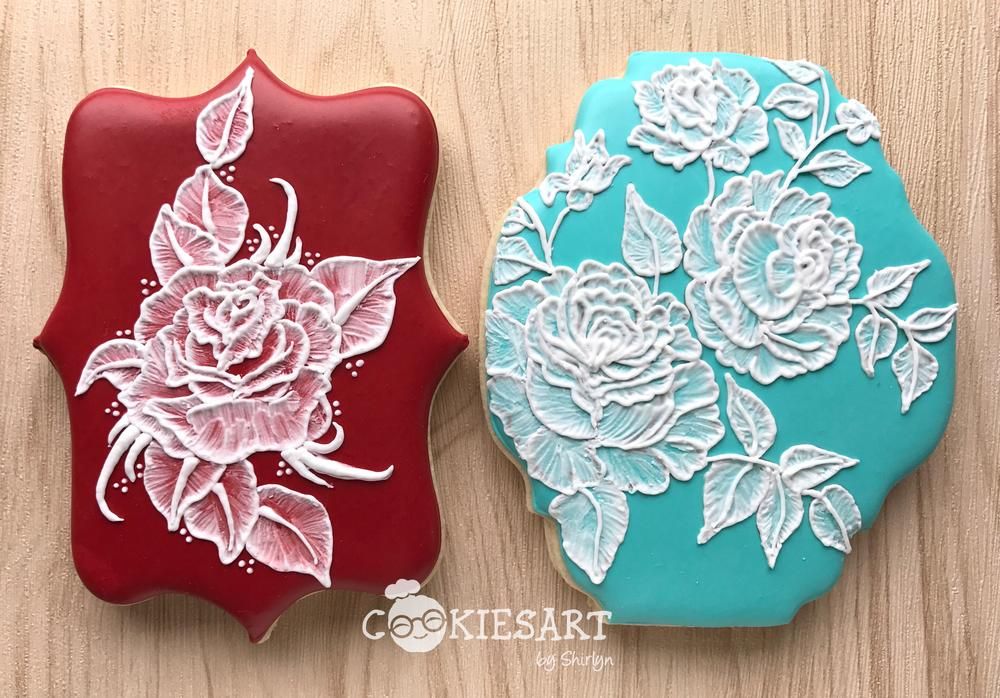 Brush Embroidery Roses