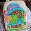 oso en volumen galleta pintada a mano