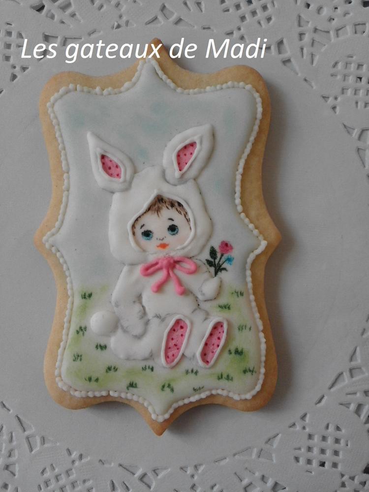 """Little girl in bunny suit"""