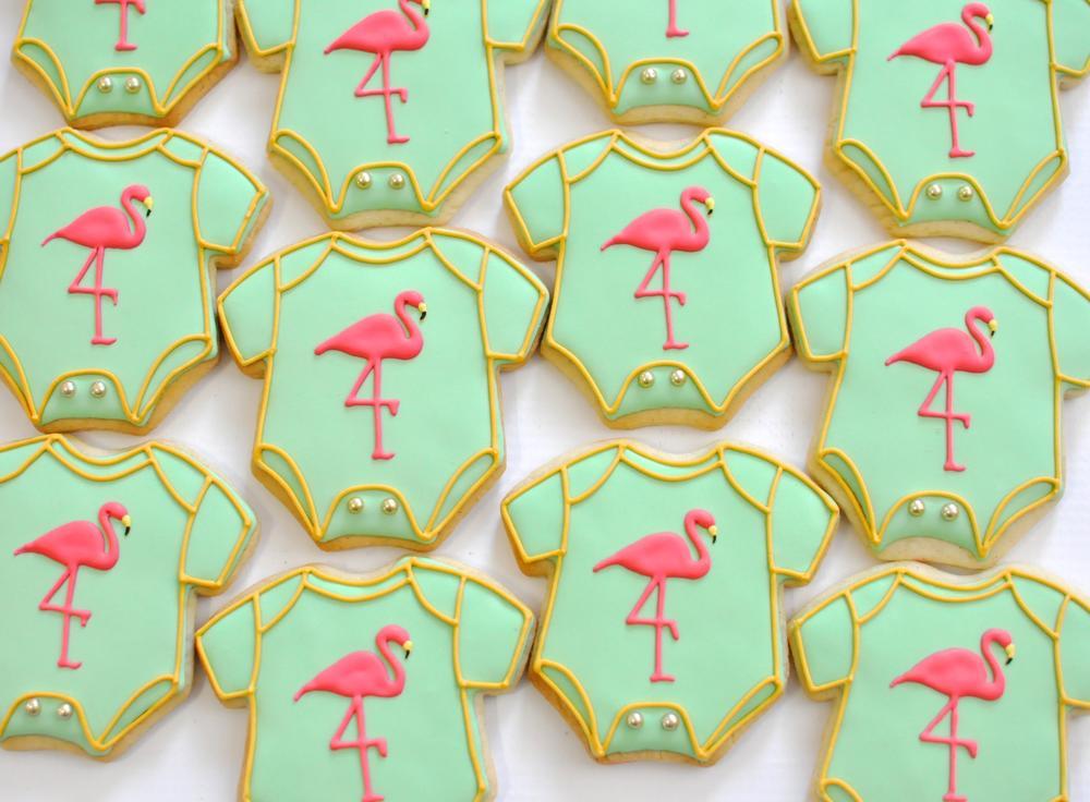 Flamingo Onesie Cookies