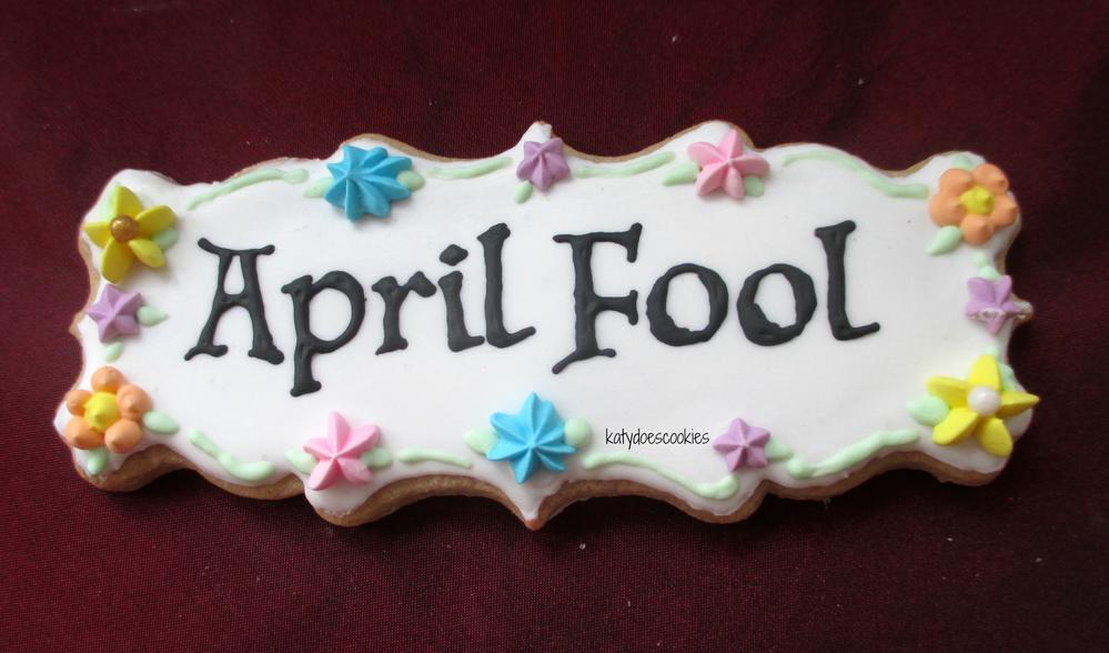 April fool plaque